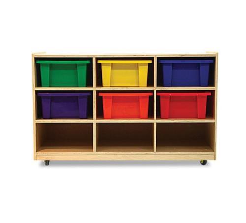 Kids 9 Bin Wooden Toy Storage Unit With Casters 39 L Ebay