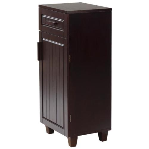 New catalina bathroom floor cabinet w 1 door drawer espresso for Bathroom floor cabinet with drawer