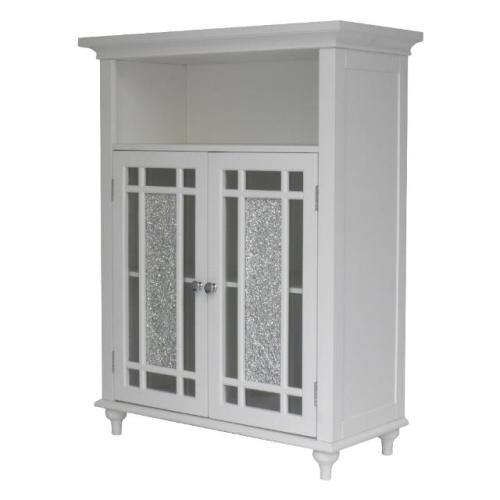 Elegant Home Windsor Balthroom Double Door Floor Cabinet - White