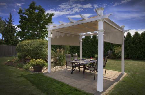 new malibu pergola white vinyl outdoor patio amp garden