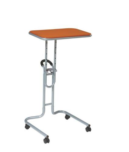 "Office Star 20"" Lucent Adjustable Height Rolling Laptop Stand - Orange Glass Top at Sears.com"