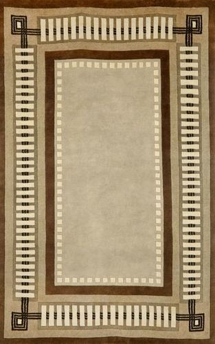 "Trans-Ocean Palermo Modern Border Brown Indoor Wool Area Rug - 42"" x 66"" at Sears.com"