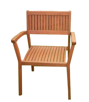 Vifah Outdoor Patio & Garden Stackable Dining Chair w/ Slats - Set Of 4 at Sears.com