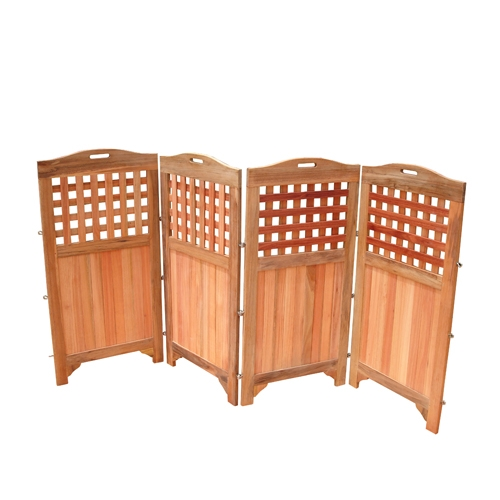 New 48 Outdoor Acacia Wood Patio Spa Privacy Screen W 4