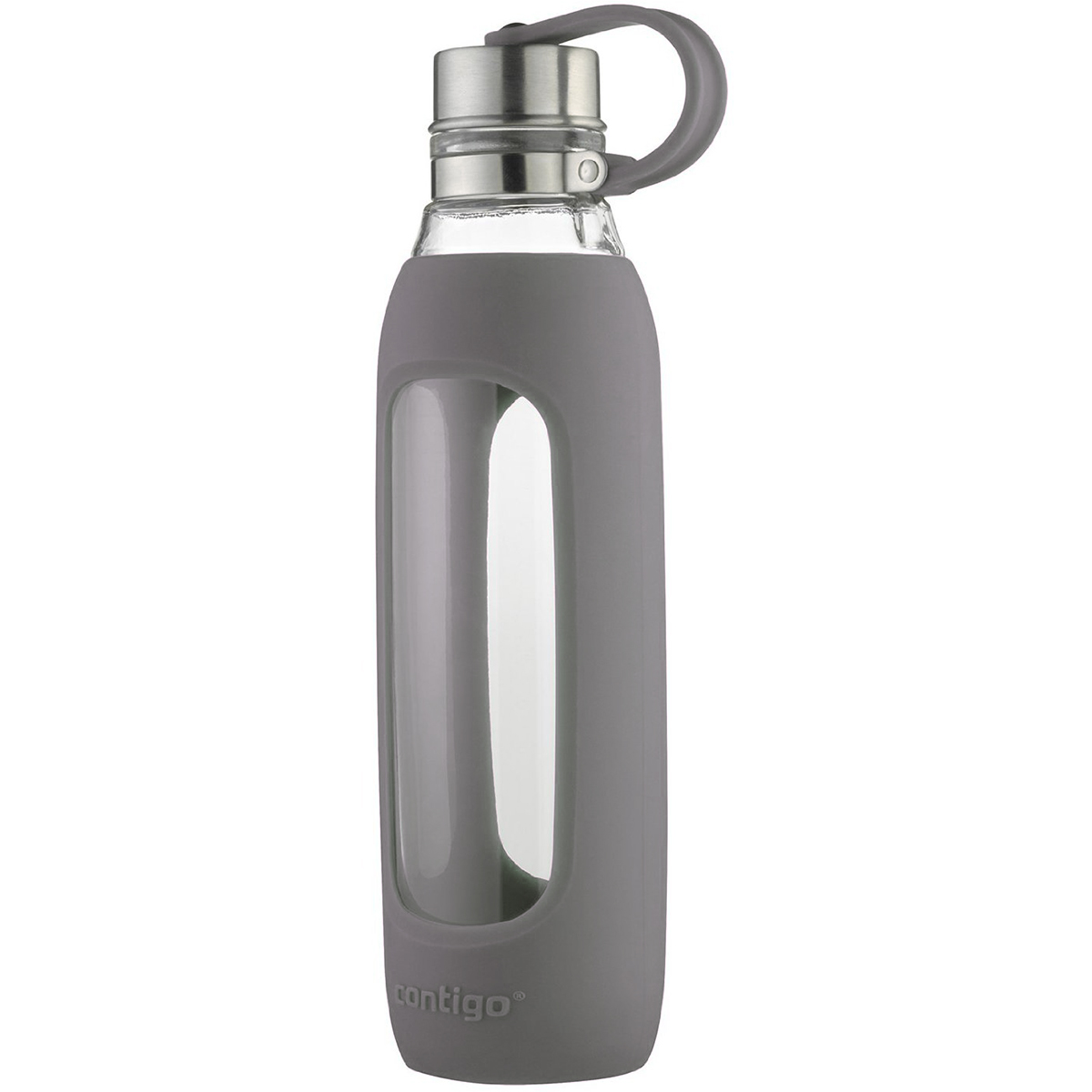 Purity Glass Water Bottle with Tethered Lid Contigo 20 oz