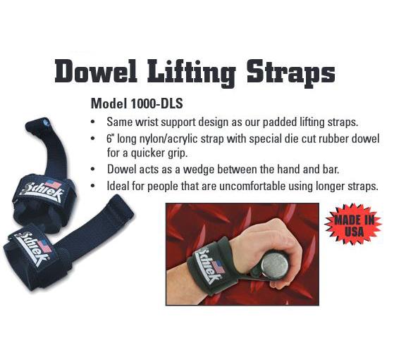 Red Schiek Sports Model 1000-DLS Deluxe Dowel Lifting Straps