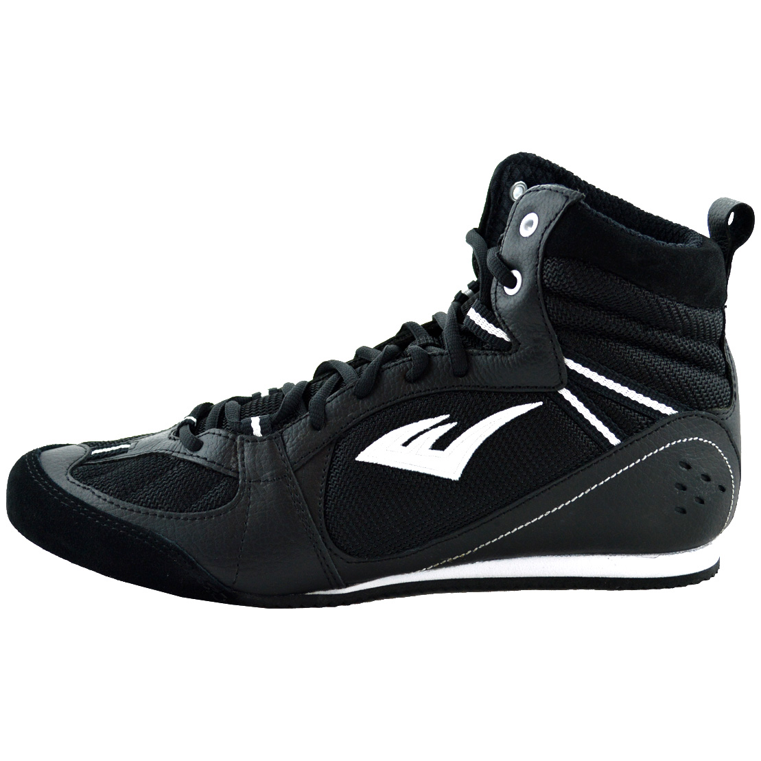 everlast lo top pro competition boxing shoes black 7