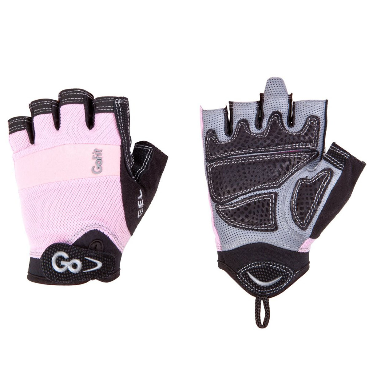 GoFit Women's Xtreme Articulated Grip Weight Lifting Gloves - Pink/Black