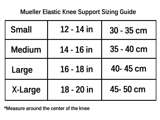 how to put on a mueller knee support