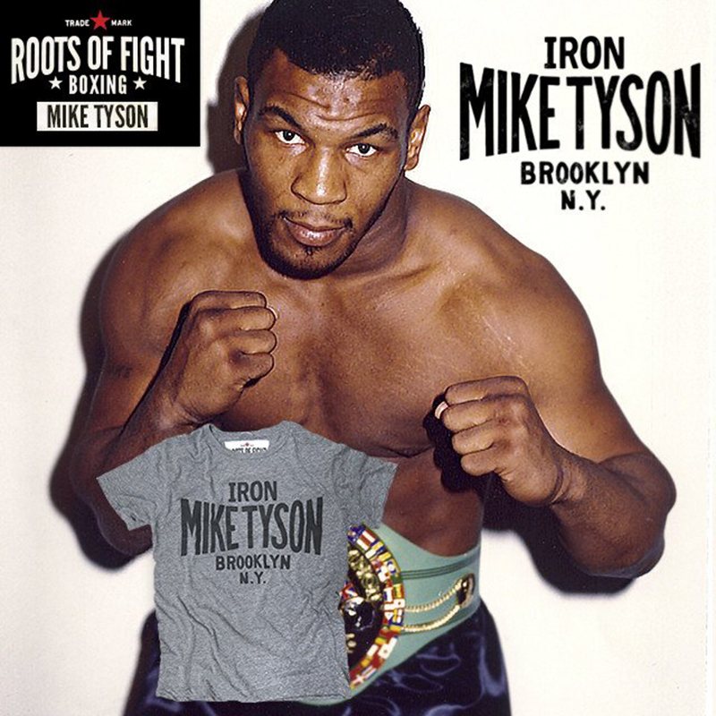roots of fight iron mike tyson t shirt triblend gray ebay