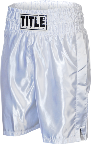 Title Boxing Title Classic Stock Boxing Trunks - White at Sears.com