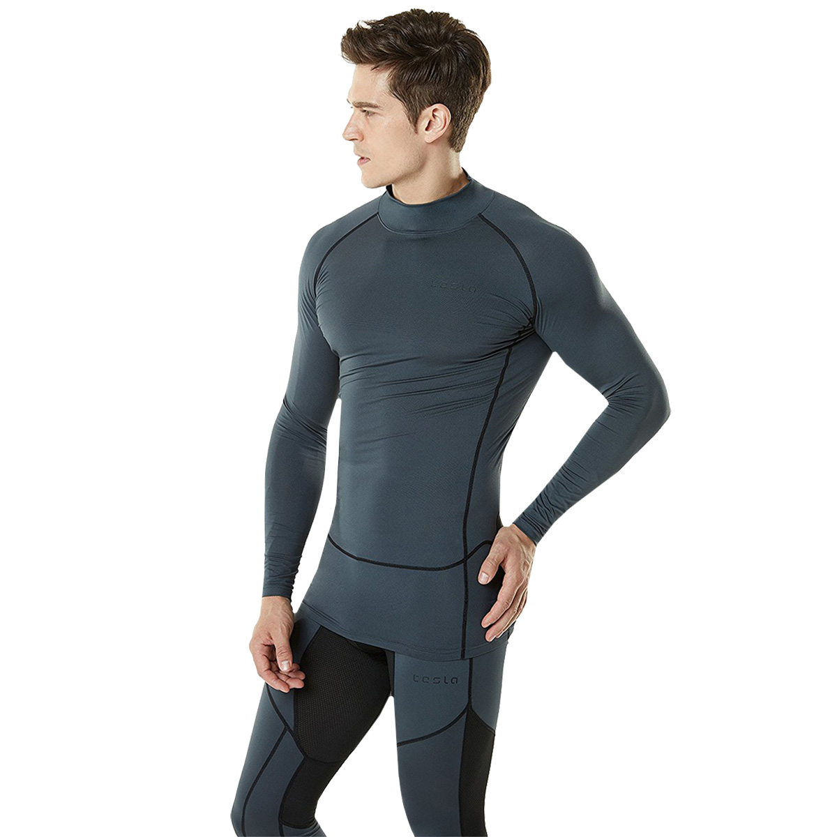 TSLA Tesla MUT72 Cool Dry Long Sleeve Compression Shirt