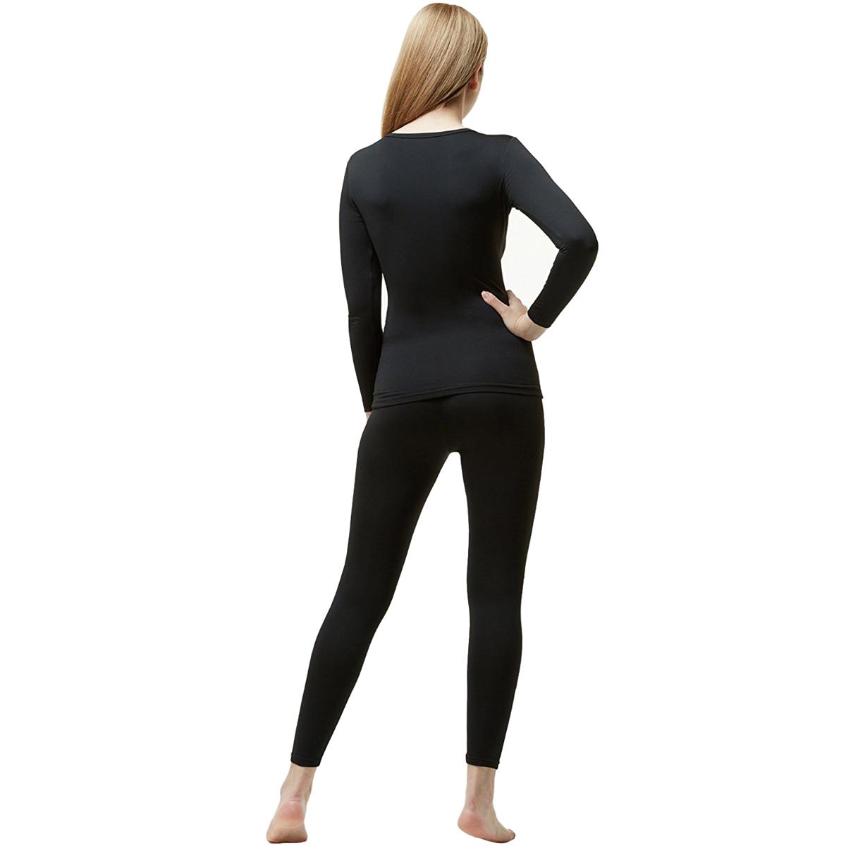 Tesla Blank WHS200 Women/'s Microfiber Fleece Lined Top and Bottom Set