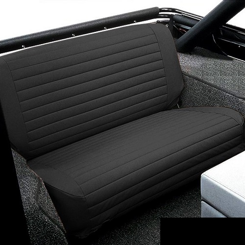 Bestop Black Denim Rear Bench Seat Covers For 1976 1995