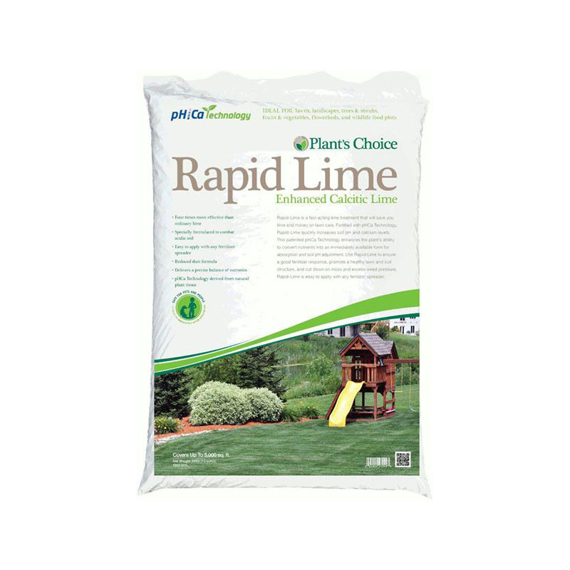 lime treatment that will save time and money on lawn care.