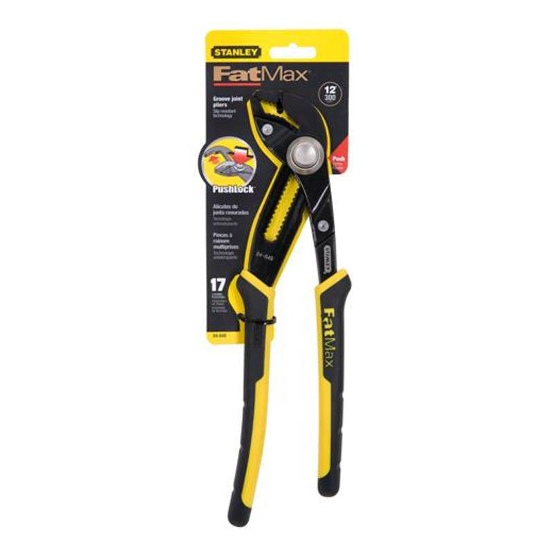 """Stanley 12"""" FatMax Push-Lock Groove Joint Pliers, 84-649 at Sears.com"""