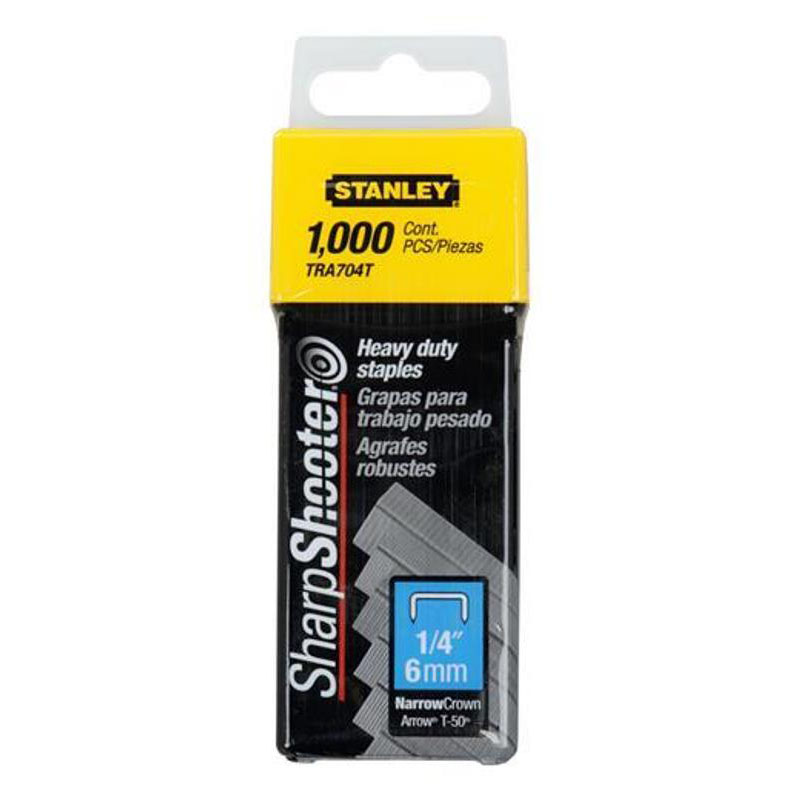 "Stanley Heavy Duty Narrow Crown 1/4"" Stables, 1,000 Pack, TRA704T at Sears.com"