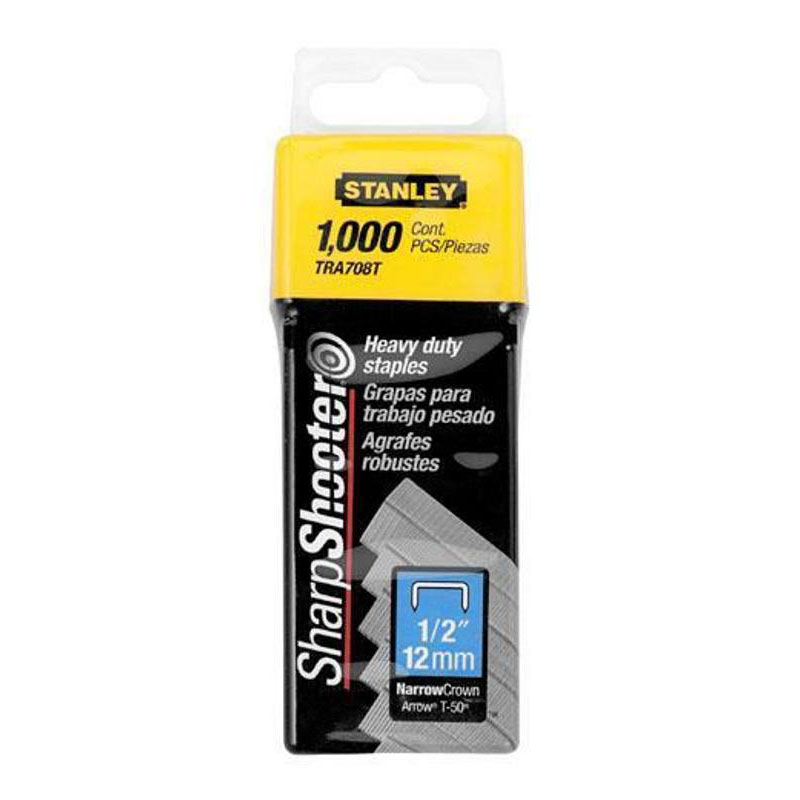 "Stanley Heavy Duty Narrow Crown 1/2"" Staples, 1,000 Pack, TRA708T at Sears.com"