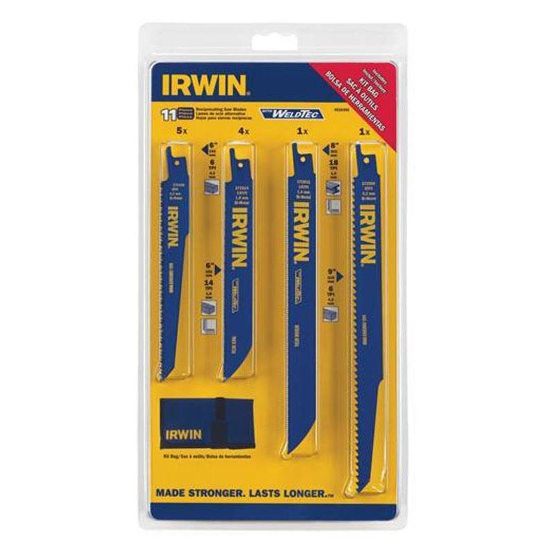Irwin 11 Piece Reciprocating Saw Blade Kit with Bonus Blade Bag, 4935496 at Sears.com