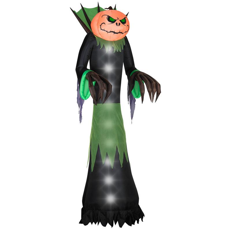"Gemmy Industries Gemmy 51"" W x 39"" D x 168"" H Halloween Airblown Inflatable Pumpkin Head Reaper at Sears.com"