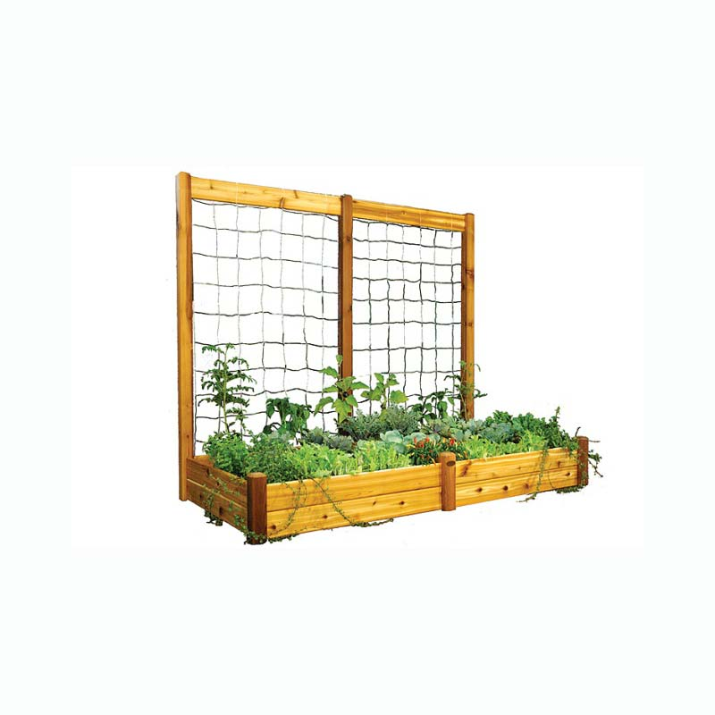 Gronomics Raised Garden Bed 48x95x13 With 95x80 H Trellis