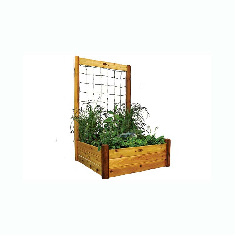 Gronomics Raised Garden Bed 48x48x19 With 48x80 H Trellis