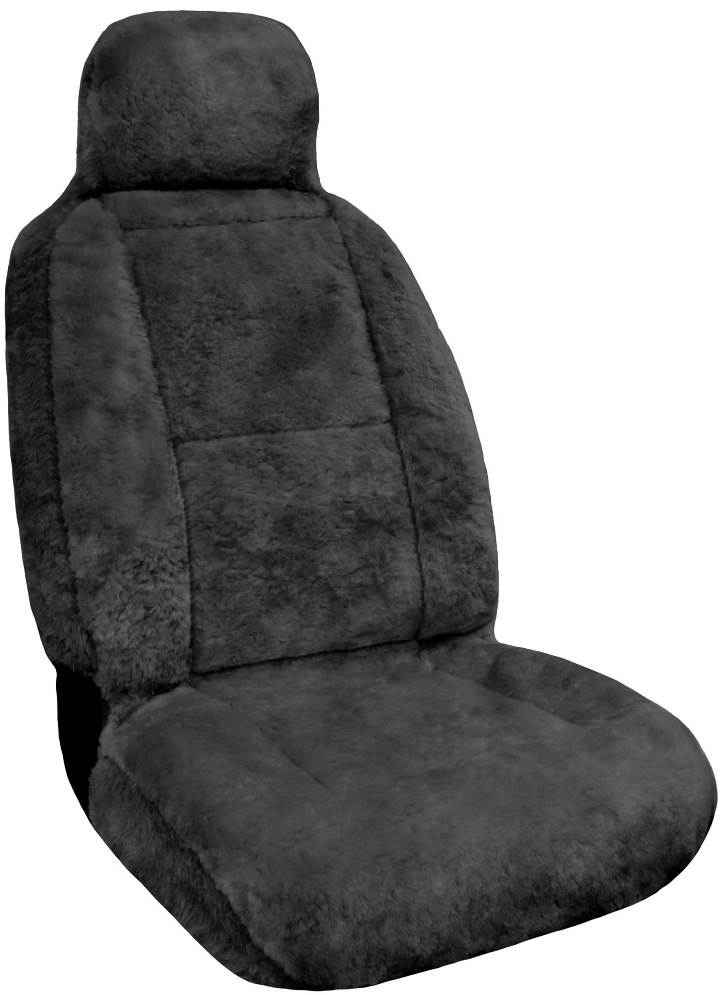 eurow sheepskin seat cover new xl design premium pelt gray ebay. Black Bedroom Furniture Sets. Home Design Ideas