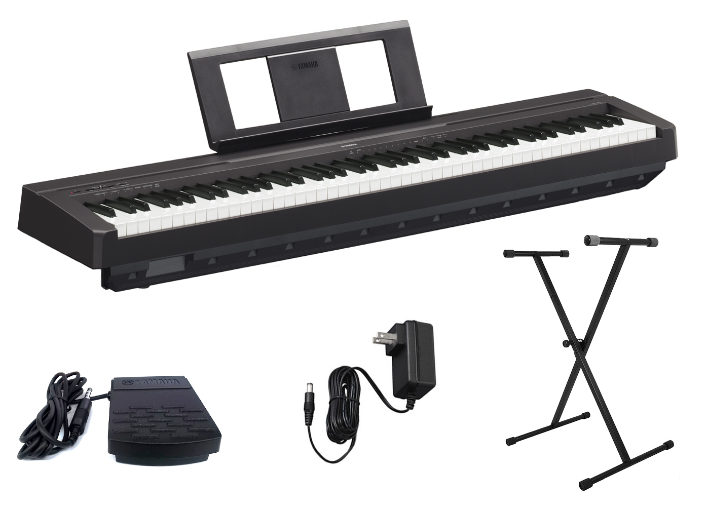 yamaha p45b digital piano with single x keyboard stand ebay