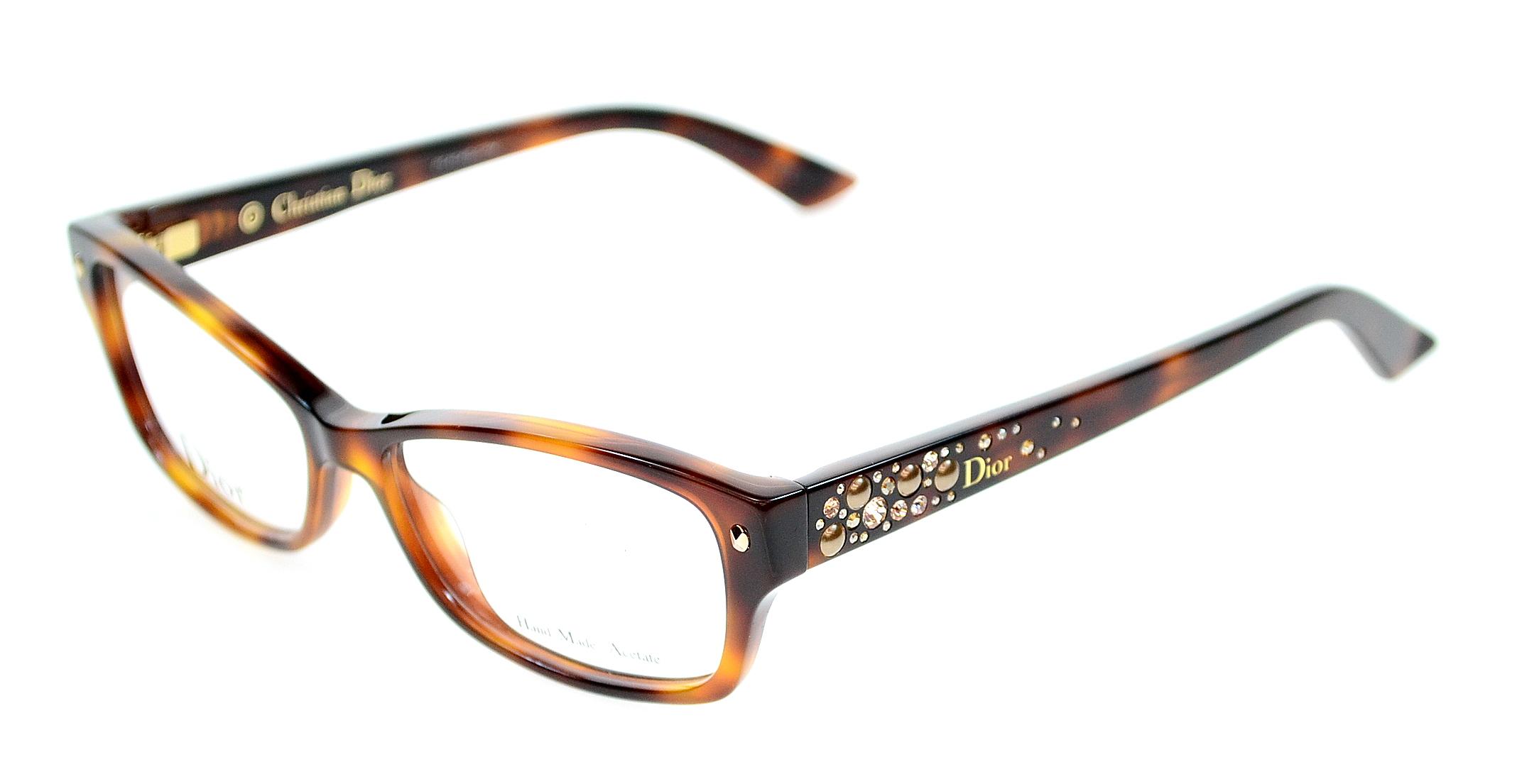 Dior Eyeglass Frames 2014 : Christian Dior Eyeglasses 3259 05L Havana 52 mm eBay