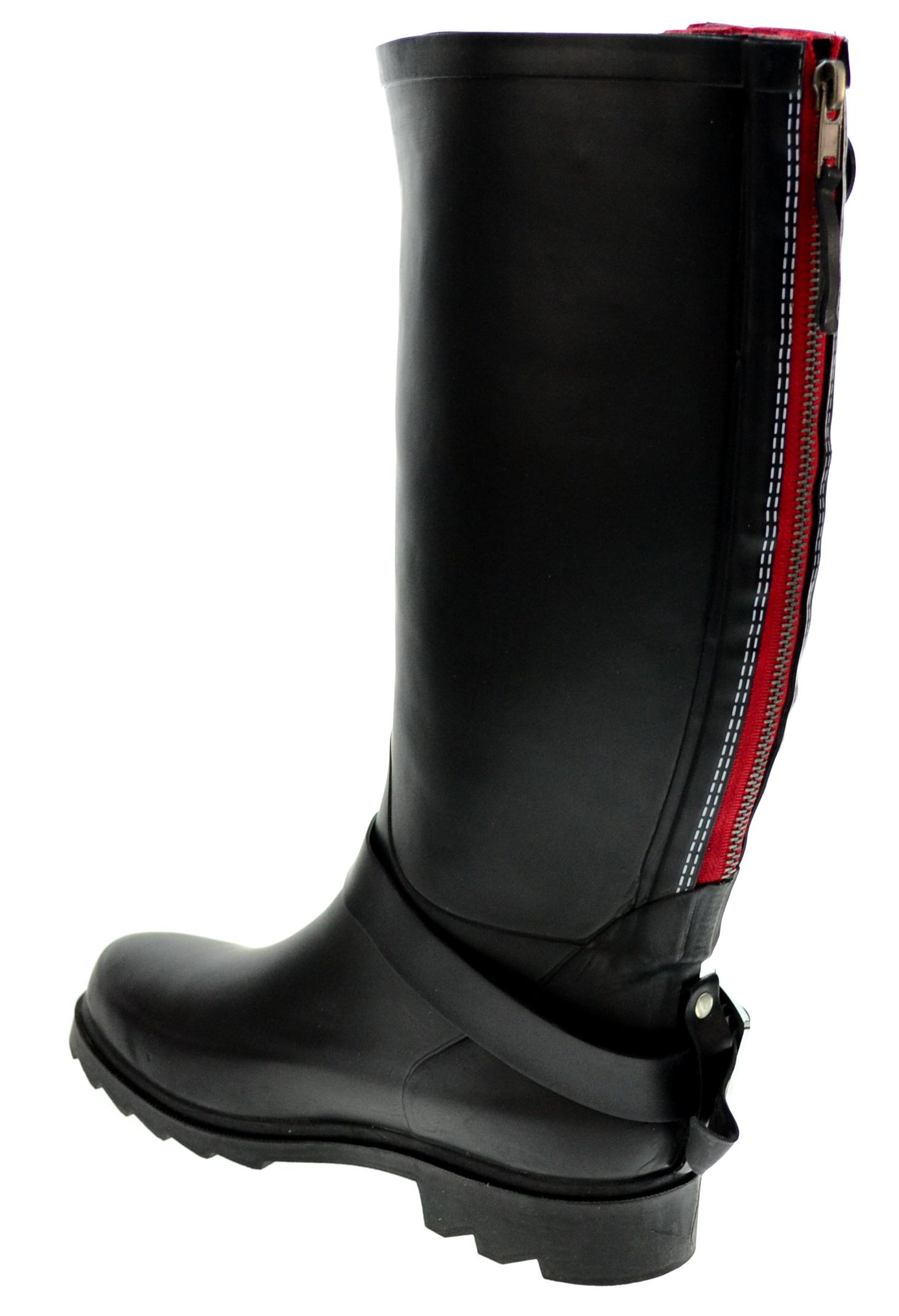 henry ferrera s black knee high rubber boots ebay