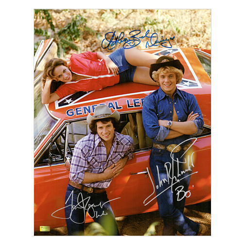 Celebrity Authentics The Dukes of Hazzard Cast Autographed 11x14 Daisy, Bo, Luke W/ General Lee Photo at Sears.com