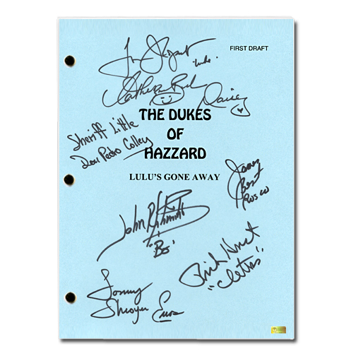 Celebrity Authentics The Dukes of Hazzard Cast Autographed Episode: Lulu's Gone Away Script at Sears.com