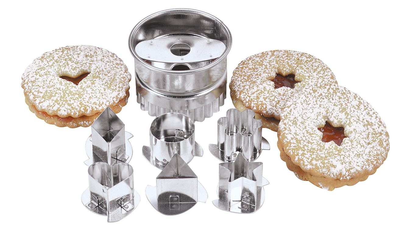Fox Run 6 Pc Linzer Cookie Biscuit Cutters European Style