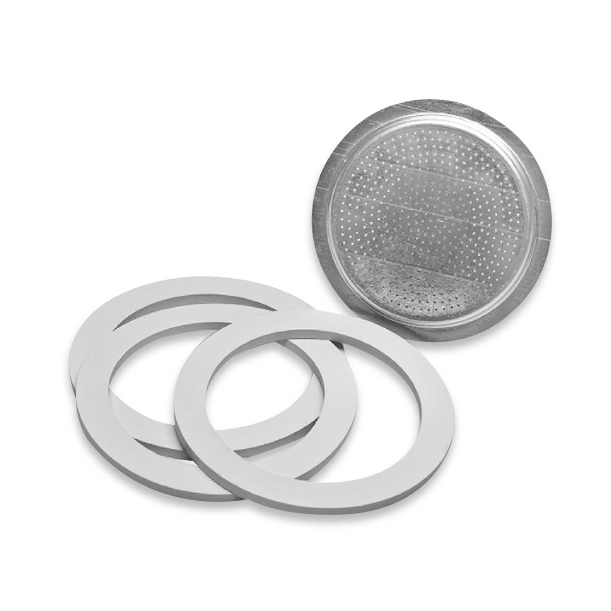 Italian Coffee Maker Seals : Bialetti Gasket and Filter Set for Stainless Steel Espresso Makers - 6 Cup eBay