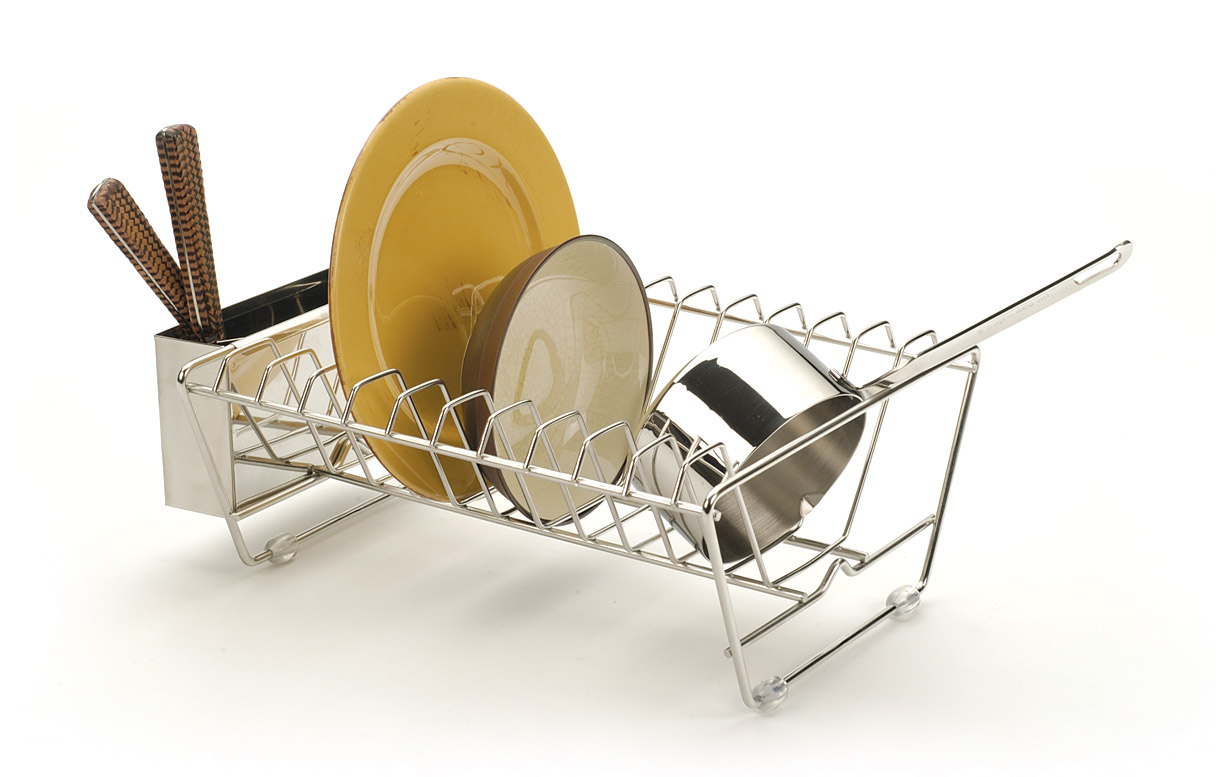 Space Saving Dish Rack Rsvp Stainless Steel In Sink Dish Rack Strainer Drainer Space
