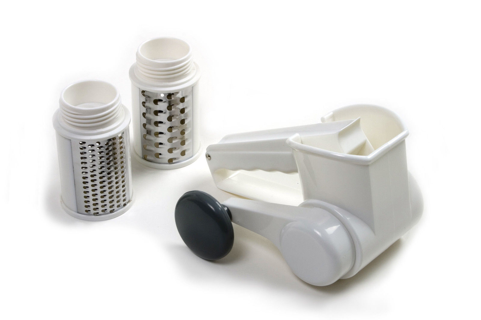 Norpro Deluxe Jumbo 3 Drum Cheese Grater Shredder Hand ...