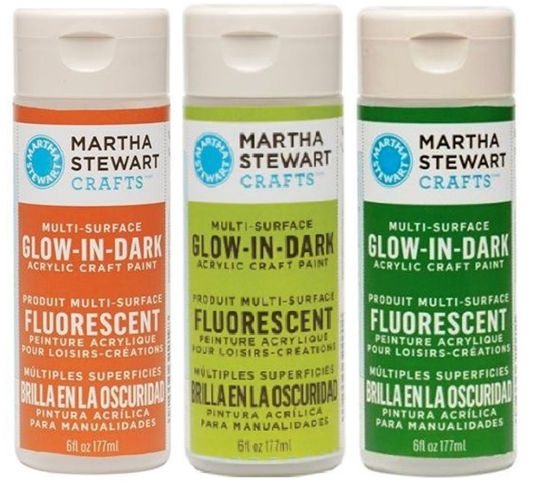 martha stewart acrylic glow in the dark paint craft select your color. Black Bedroom Furniture Sets. Home Design Ideas