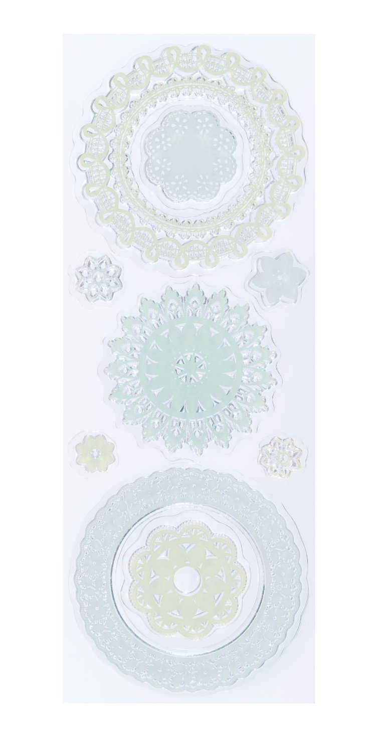 Martha stewart crafts clear stamps doily lace butterflies