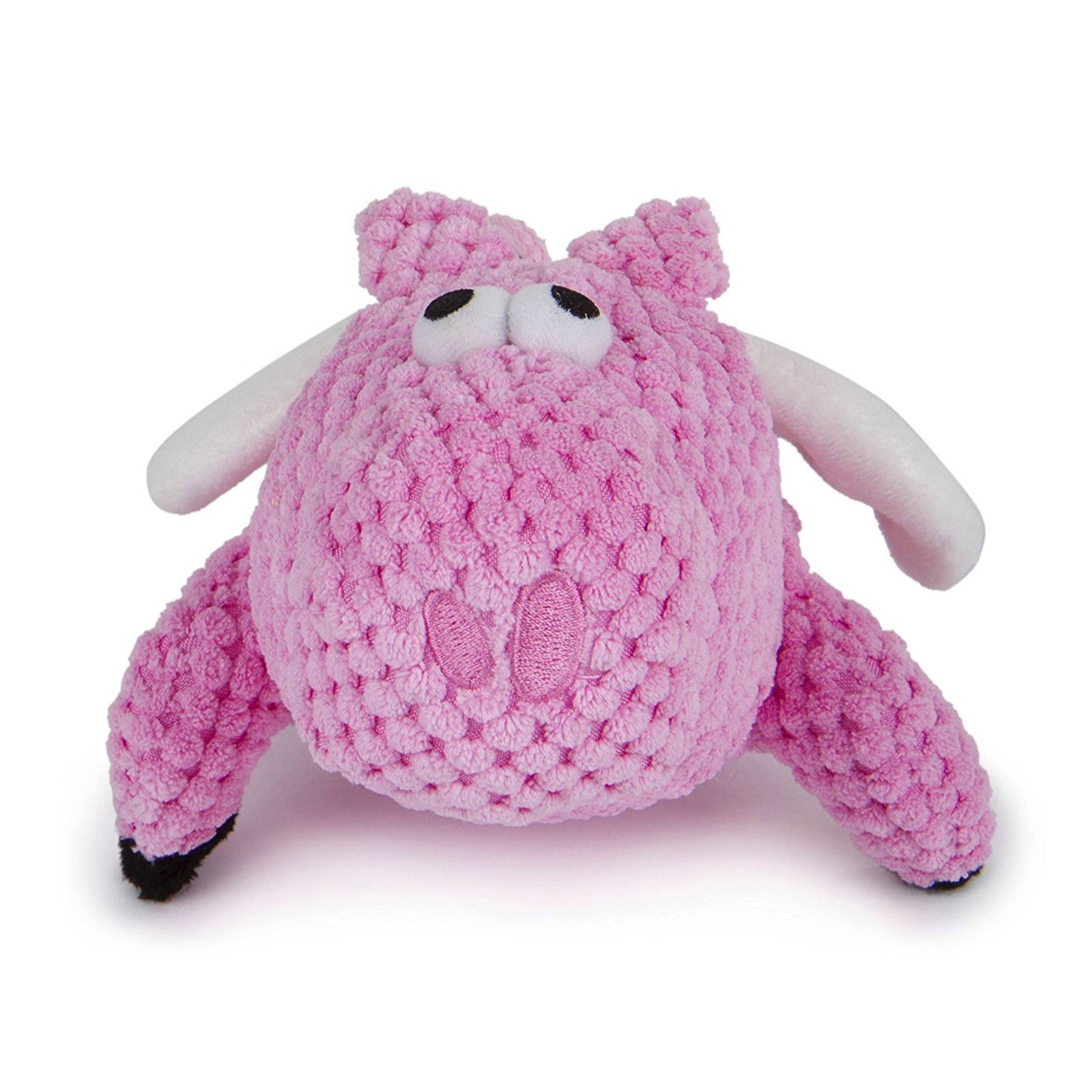 Pink Dog Toy : Godog checkers flying pig chew guard technology tough