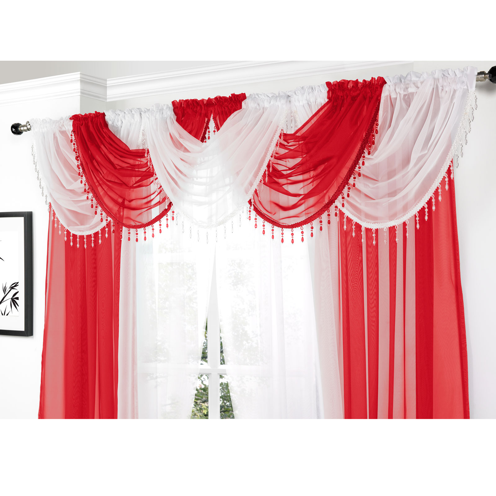 Red Swag Kitchen Curtains Red Kitchen Curtains And Swags