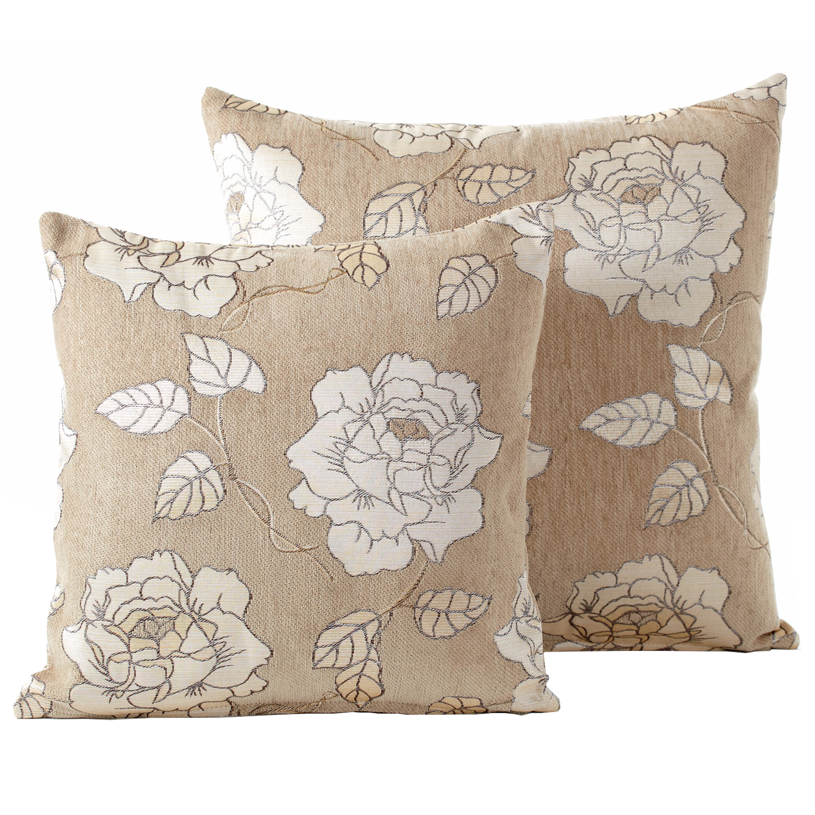 chenille rose cushions luxury floral woven scatter small. Black Bedroom Furniture Sets. Home Design Ideas