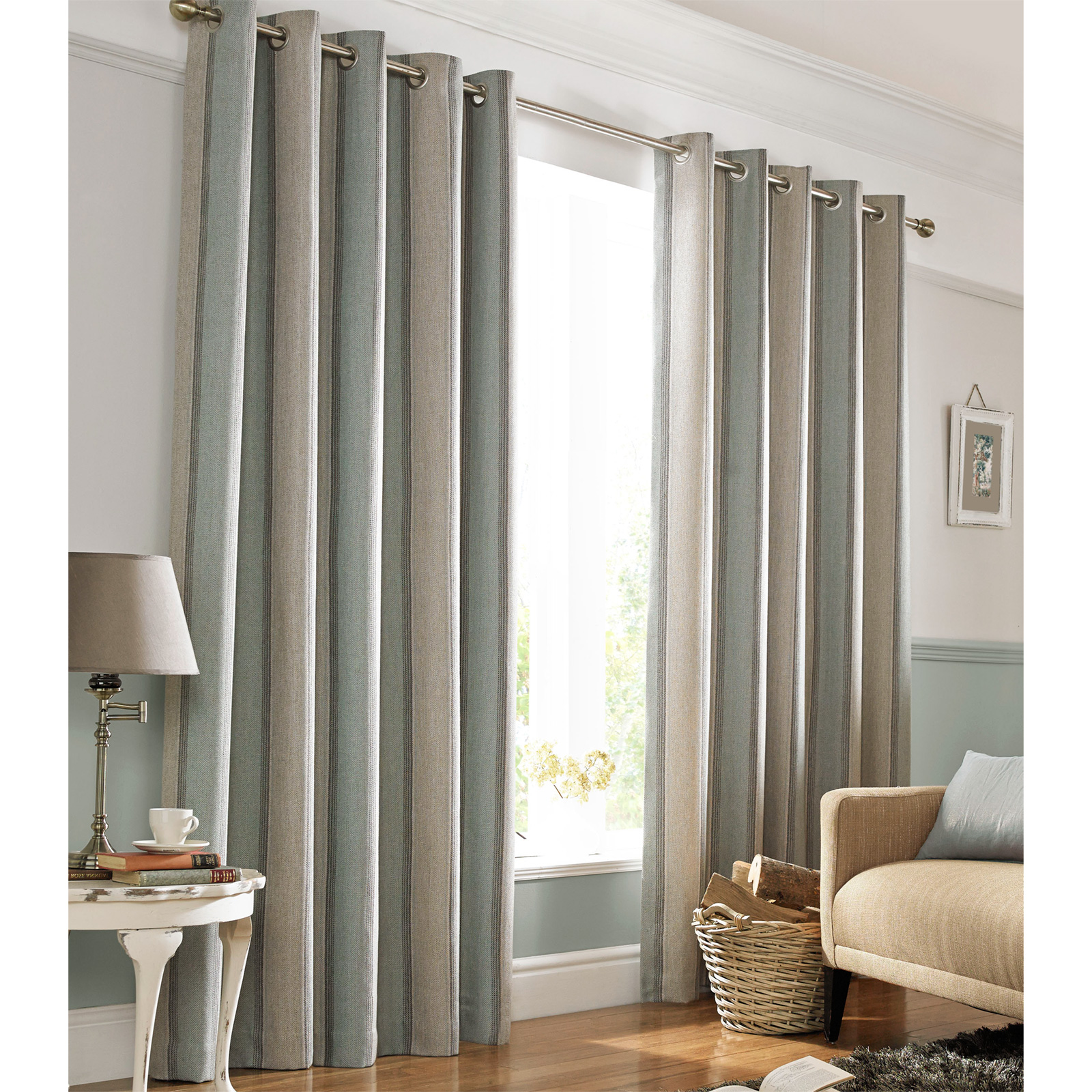 heavy weight downton fully lined eyelet curtains with. Black Bedroom Furniture Sets. Home Design Ideas