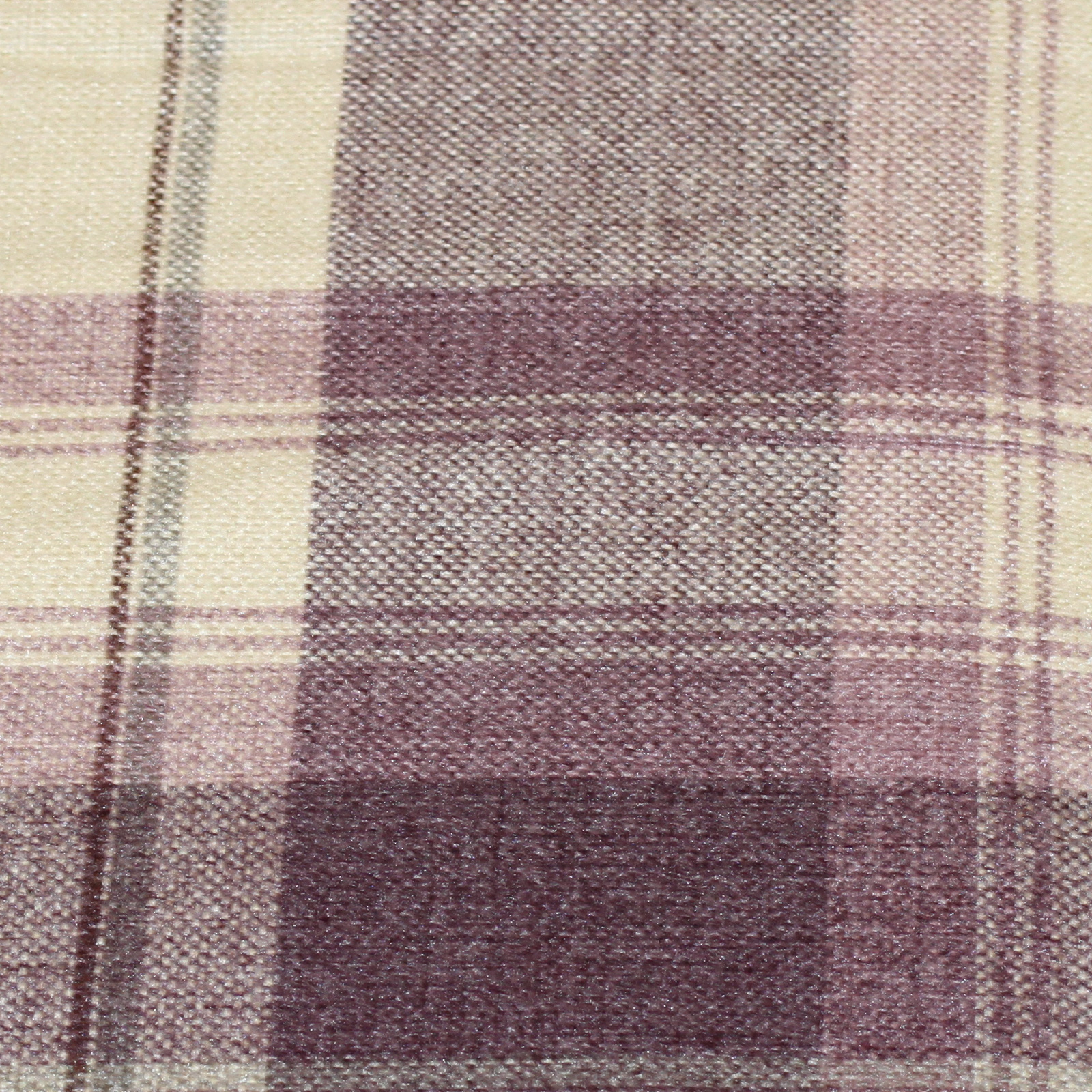 Classic Tweed Tartan Check Ring Top Curtains In