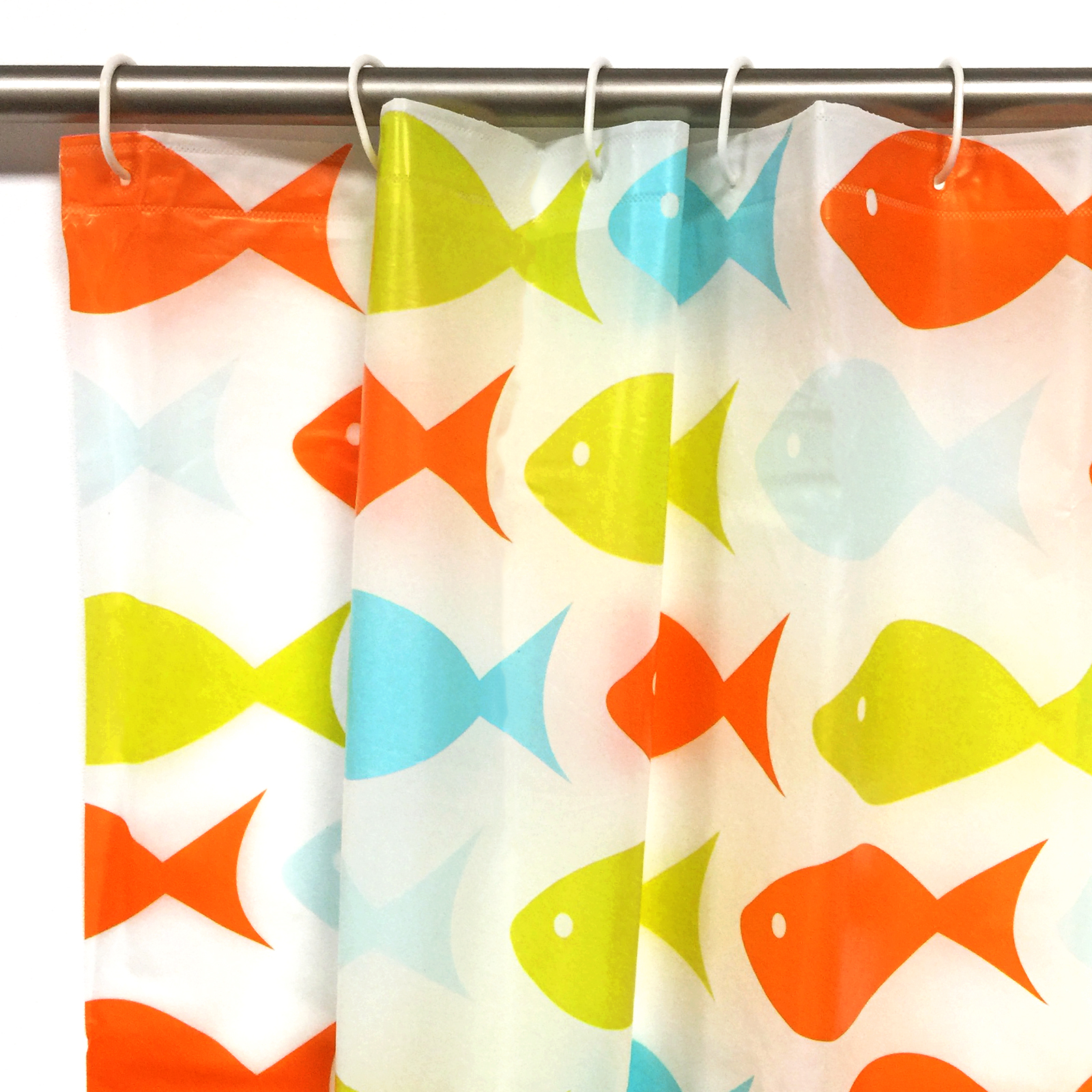 Style selections eva peva print multi fish shower curtain at lowes com -  Peva Shower Curtains By Quality Peva Shower Curtain With Ring Hooks For Bathroom 180 X