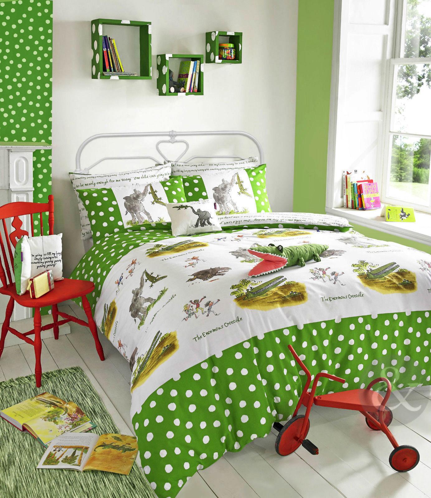 roald dahl enfants housse de couette 100 coton avec housse de couette gar ons filles literie. Black Bedroom Furniture Sets. Home Design Ideas