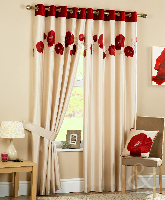 Poppy Curtains Luxury Heavy Eyelet Ring Top Ready Made