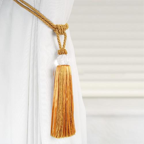 Curtains Ideas curtain hook tie backs : Crystal Beaded Tiebacks Tassel Curtain Tie Backs / Tieback | eBay