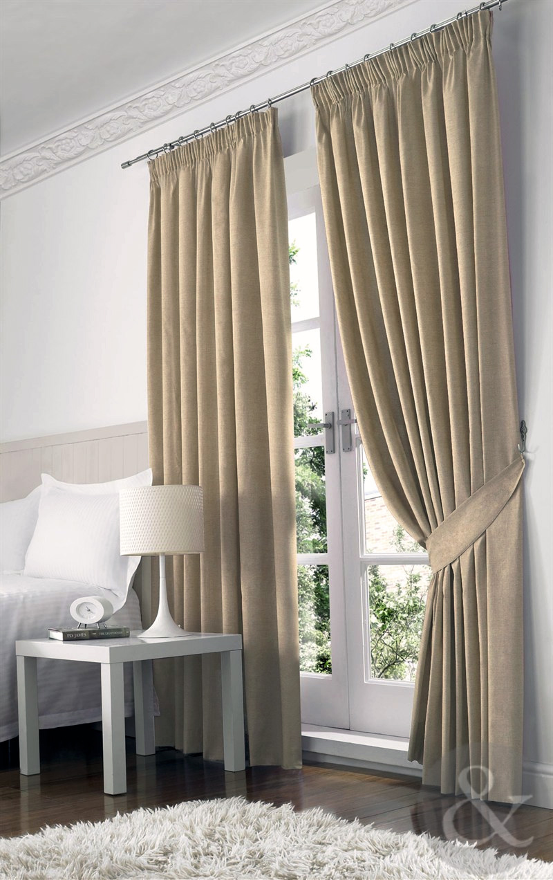 Farleigh 100 Blackout Curtains Heavy Weight Thermal Lined Pencil Pleat Curtain