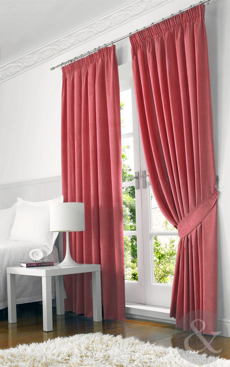 Farleigh 100 Blackout Curtains Heavy Weight Thermal Lined Pencil Pleat Curtain Ebay