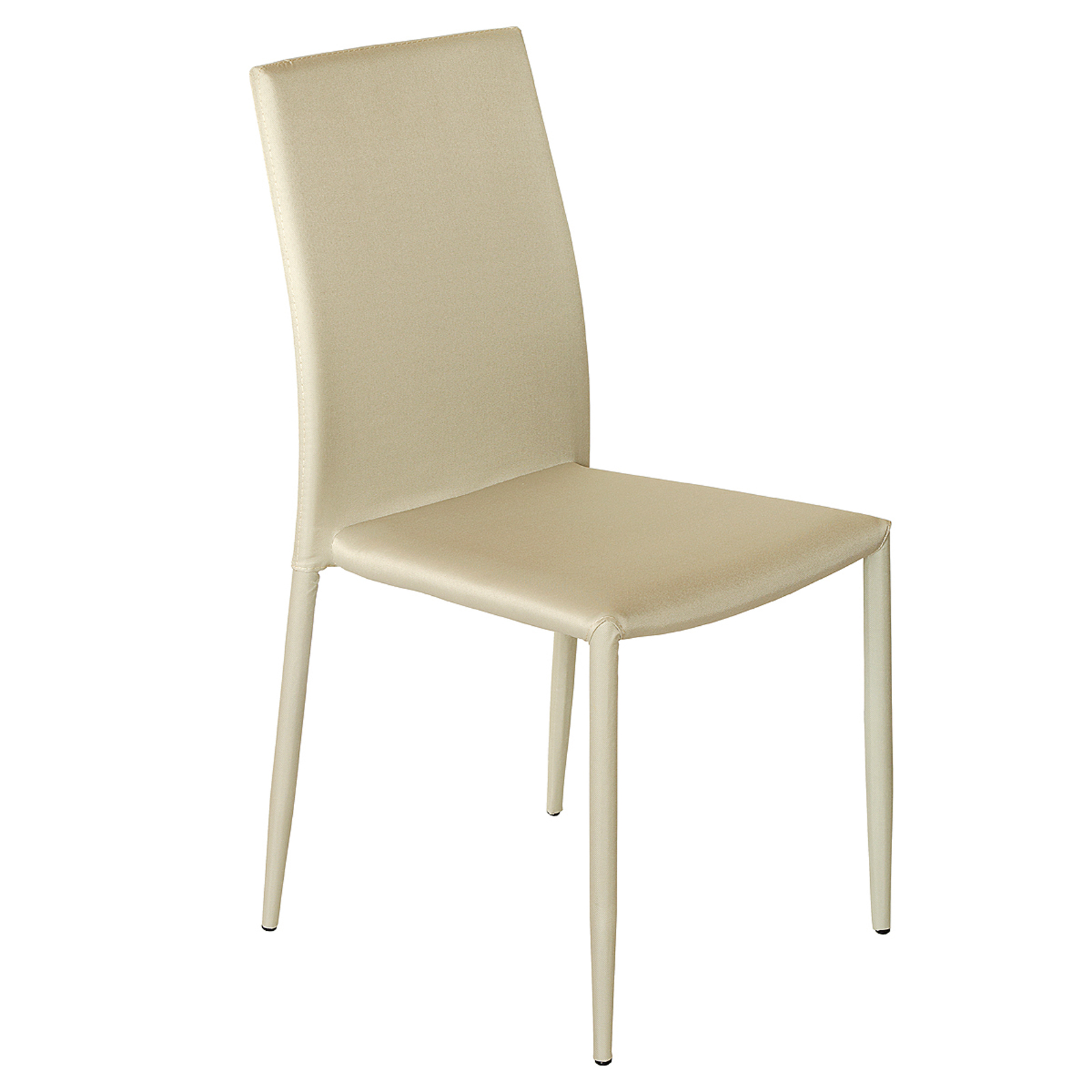 Modern contemporary stacking dining chair in canvas for Contemporary fabric dining chairs